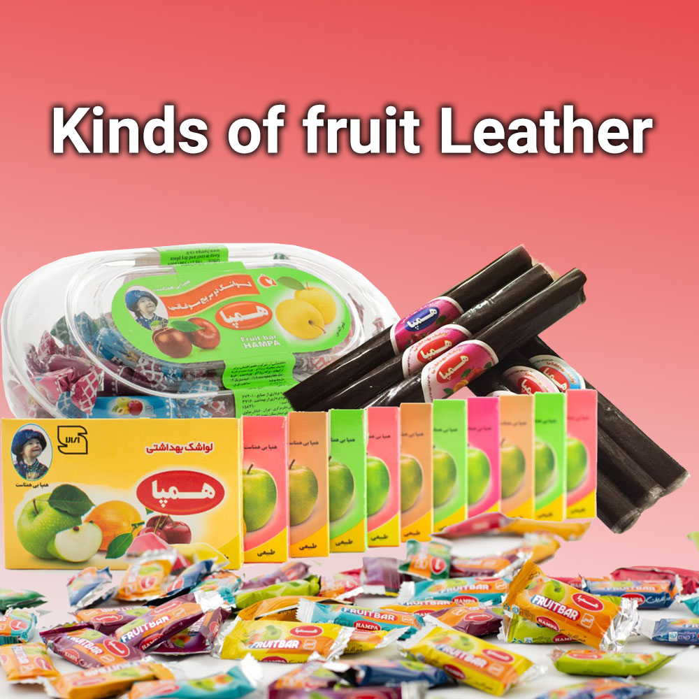 Kinds of fruit Leather